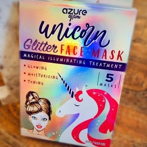 🦄Unicorn Holographic Glitter Face Mask: 5 Pack🦄